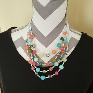 Erica Lyons Beaded Wire Layered Necklace